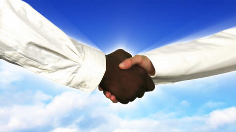 Close up of business people shaking hands Stock Video Footage