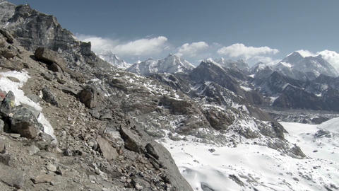 Movement of the clouds on the mountains Everest, R Stock Video Footage