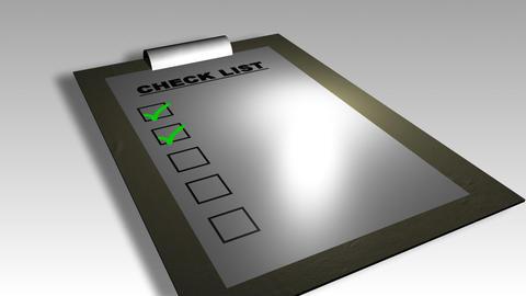 3D check list animation Animation