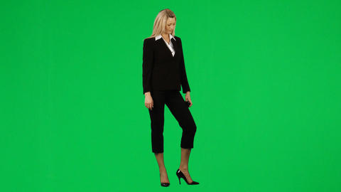 Businesswoman on phone against green screen footag Stock Video Footage
