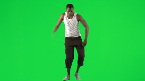 AfroAmerican young man dancing modern dance footag Stock Video Footage