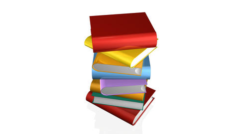 Books and a graduated person icon Stock Video Footage
