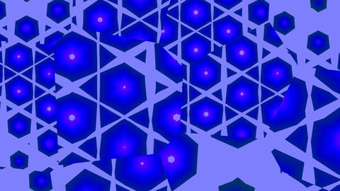 Blue hexagons in the mirrors Animation