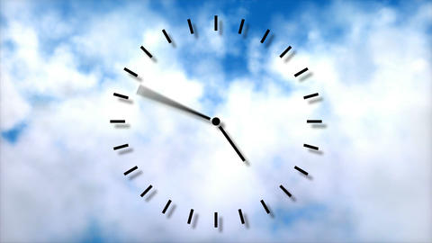 Clock in motion. Passing time concept Animation