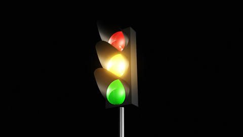 Traffic lights changing colours Animation