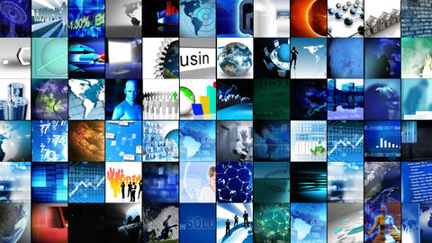 Collage of digital technology Animation