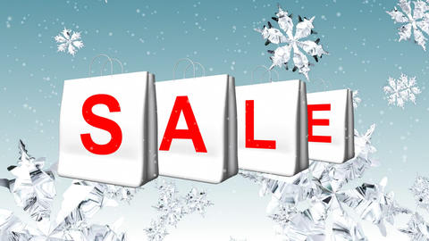 Christmas Sale Advertisement Stock Video Footage