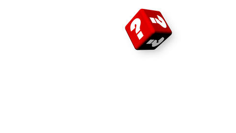 Question mark cubes. Doubt and uncertainty concept Stock Video Footage