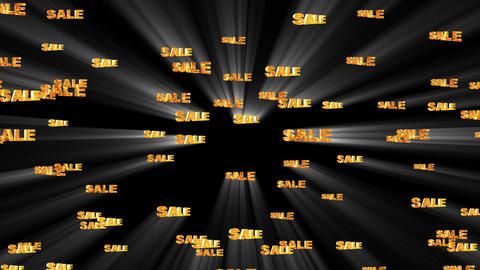 Sale Words Background Animation