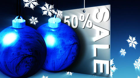 Christmas Shopping Sale Advertisement Animation