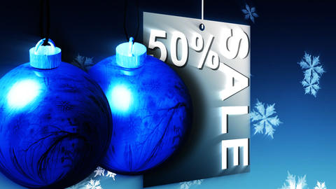 Christmas Shopping Sale Advertisement Stock Video Footage