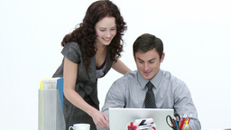 Business associates working together Stock Video Footage
