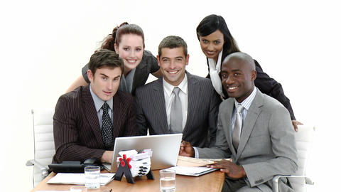 Young Business people in a meeting Footage