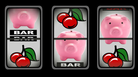 Animation of slot machine Animation