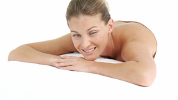 Young woman relaxing in a health Spa Stock Video Footage