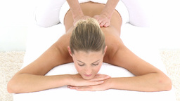 Massage in the day spa Footage