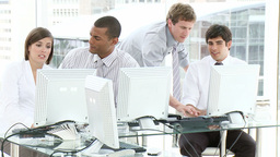 Young people working in an office Stock Video Footage