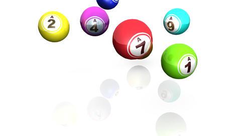 Lottery balls falling Animation