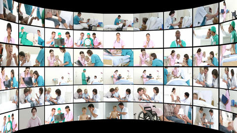 Montage of Medical Scenes 1 Stock Video Footage