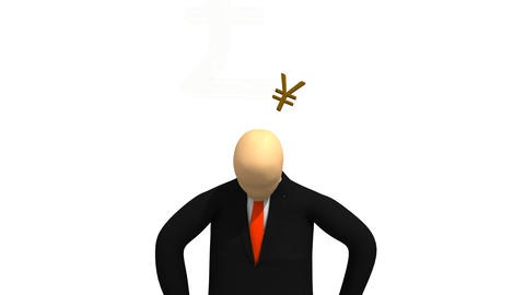 Computer animation presenting 3dman in a suit thin Animation