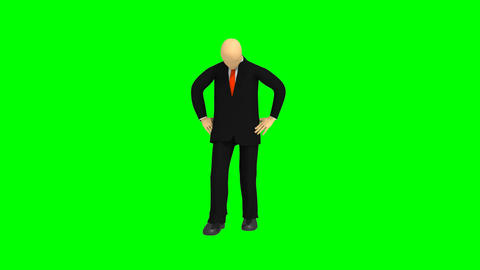 Computer animation showing 3d man thinking Animation