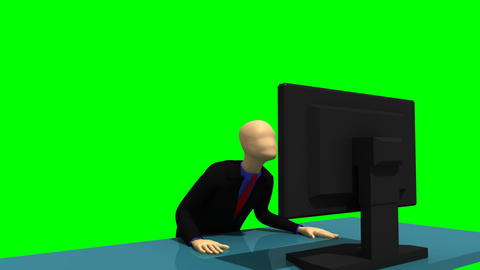 Animated graphics showing a glowing 3d man looking Stock Video Footage