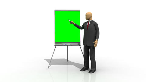 Animation showing 3d man Stock Video Footage