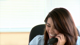 Confident asian businesswoman talking on phone Footage