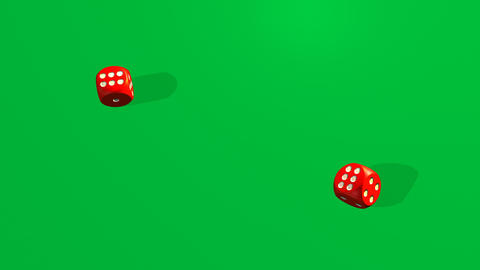 Dice rolling againt a casino background Stock Video Footage