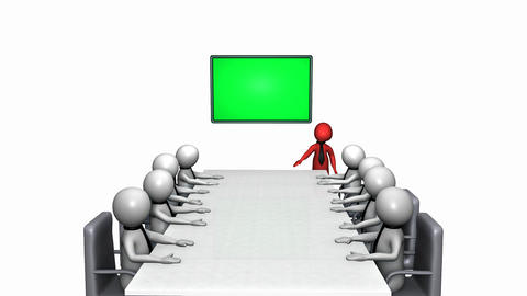 Business presentation with colorful characters Animation