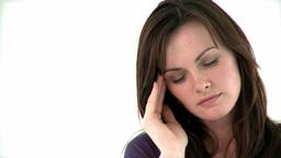 Attractive woman having a headache Footage