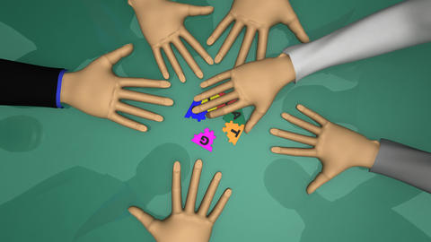 Close up of 3d businessmen playing with strategy p Stock Video Footage