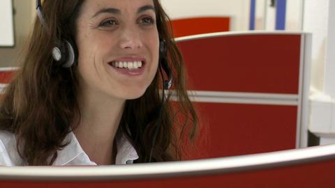 Customer service representative Stock Video Footage