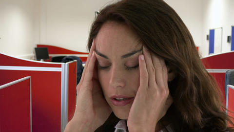 young woman having a headache Stock Video Footage