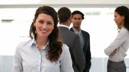 Happy businesswoman Footage