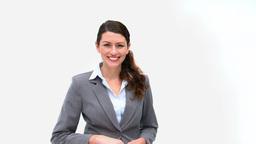 Pretty businesswoman presenting Footage