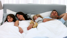 Nice family sleeping together Footage