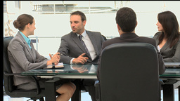 Business people working together during a meeting Footage