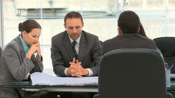 Business people working together on a document Footage
