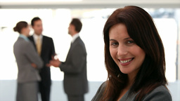Businesswoman smiling at the camera Stock Video Footage