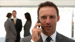 Businessman on the phone Footage
