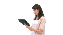 Woman using a computer tablet Footage