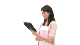Woman using a computer tablet Stock Video Footage