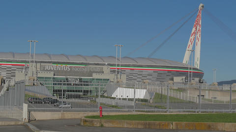 Juventus Stadium Torino filmed in 4K Footage