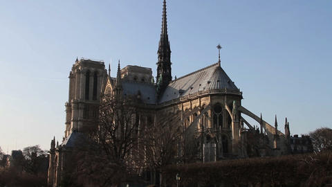 1534 Notre Dame Paris France Stock Video Footage