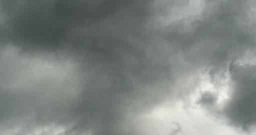 4k Panoramic of dark altocumulus clouds smoke slowly... Stock Video Footage