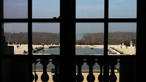 1549 Looking out a Window Palace of Versailles in  Footage