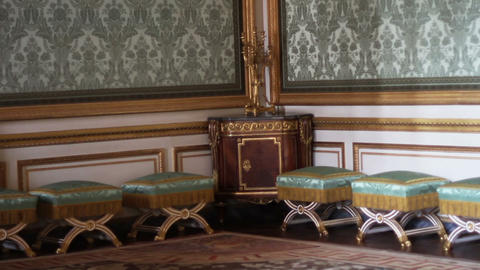 1555 Chairs in Corner Room Palace of Versailles in Footage