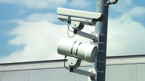 1563 Police Speed and Surveillance Cameras Stock Video Footage