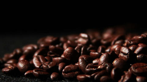 1572 Coffee Beans in Slow Motion Stock Video Footage